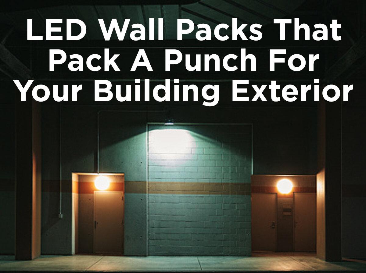 Paquetes de LEDs para paredes que son un gran aporte para el exterior de su edificio